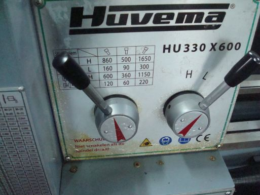 Huvema HU 330 x 600 - Draaibank