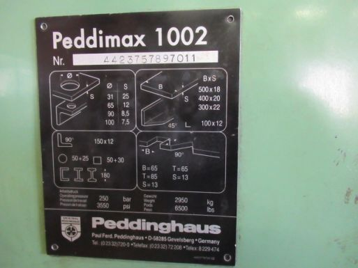 Pons-knipmachine Peddinghaus Peddimax 1002 - Ponsmachine